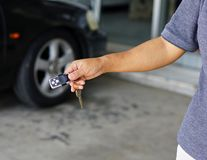 Car key. With central locking Royalty Free Stock Photo