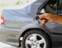 Car key. With central locking Royalty Free Stock Photos