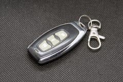 Car key chain. Car lock remote control in a key ring. Car key ring royalty free stock photos