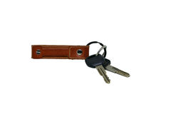 Car Key Chain isolated on white background Royalty Free Stock Photo
