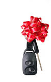 Car key for Christmas Stock Image