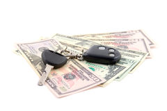 Car key and dollars Stock Photo