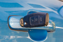Car key in Door lock Royalty Free Stock Photography
