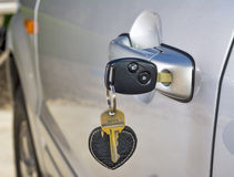 Car key in the door of an SUV Stock Photography
