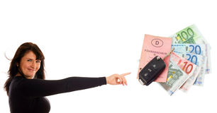Car Key and Euro Money royalty free stock images
