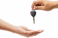Car-key exchange Royalty Free Stock Photo