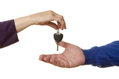 Car key exchange Stock Photo