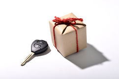car key and gift box Stock Image