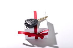 car key and gift box Stock Photo
