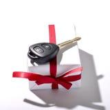 Car key and gift box Royalty Free Stock Photography