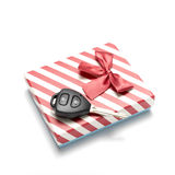 Car key and gift box Royalty Free Stock Photography