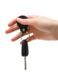 Car key in hand Stock Photo