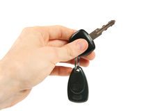 Car key in the hand Stock Image