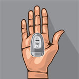 Car key in a hand vector Stock Photo