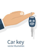 Car key holding on finger Royalty Free Stock Photo