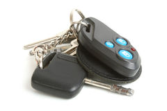 Car key and house keys Stock Photos