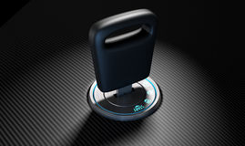 Car Key In Ignition Royalty Free Stock Image