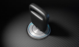 Car Key In Ignition Stock Image