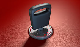 Car Key In Ignition Stock Photography