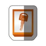 Car key isolated Stock Image