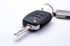 Car key - isolated on the white background Royalty Free Stock Photography