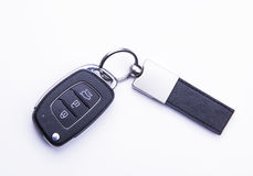 Car key - isolated on the white background. Car key 3 button White backgorund Royalty Free Stock Photo
