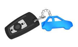 Car Key Isolated. On white background. 3D render Royalty Free Stock Images