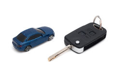 Car and key Royalty Free Stock Photography