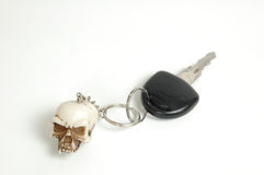 Car key with key with skull Royalty Free Stock Photography