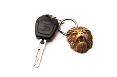 Car key keychain leon Royalty Free Stock Photo