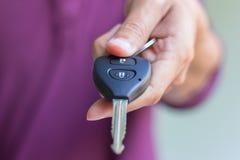 Car key in man hand Royalty Free Stock Photo