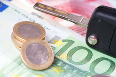 Car Key and Money Stock Photography