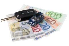 Car Key and Money Stock Image