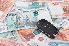 Car Key and money Royalty Free Stock Images