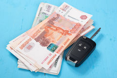 Car Key and money Royalty Free Stock Image