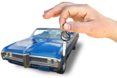 The car and key Stock Image