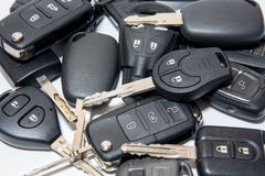 Car key with remote control. Stock Photo