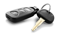 Car key. With remote control Royalty Free Stock Photos