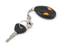 Car key and remote control Stock Photo