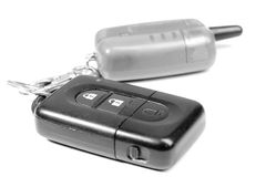 Car key and remote control Royalty Free Stock Image