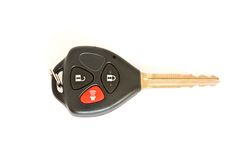 Car key with remote control isolated Stock Image