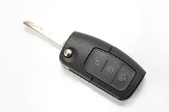Car key with remote control isolated on white Stock Image
