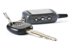 Car key with remote control isolated Stock Images