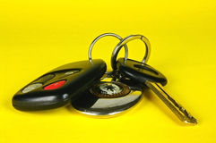 Car key, remote control and keychain Royalty Free Stock Photography