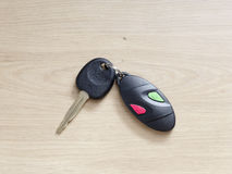 Car key with remote control Royalty Free Stock Photos