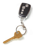 Car key with remote entry Royalty Free Stock Photos