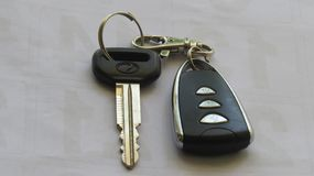 Car key with remote - image royalty free stock images