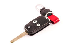 Car key remote isolated with white background Stock Images