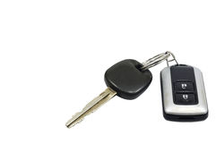Car key remote isolated on white background, conception. Stock Photography