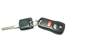 Car Key and Remote  on a White Royalty Free Stock Photos